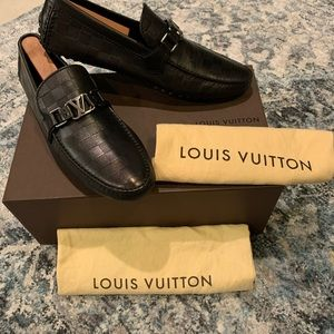 Louis Vuitton Hockenheim Moccasins Black Damier